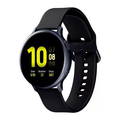 Смарт-часы SAMSUNG Galaxy Watch Active2, 44мм, 1.4, черный / черный [sm-r820nzkrser] смарт часы samsung galaxy fit e 0 74 pmoled черный sm r375nzkaser
