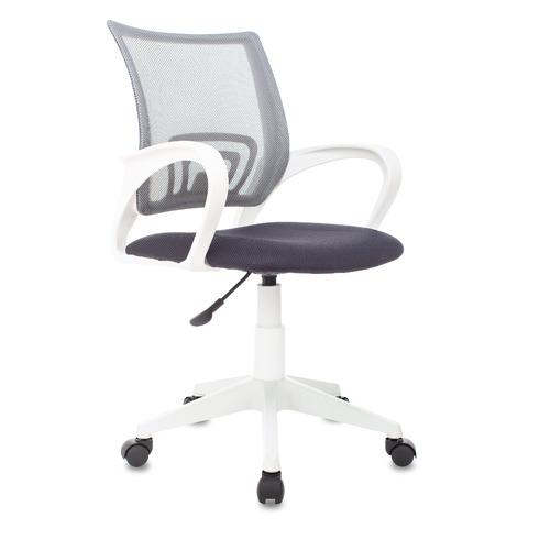 Кресло Бюрократ CH W696, на колесиках, сетка/ткань, серый [ch w696 grey]