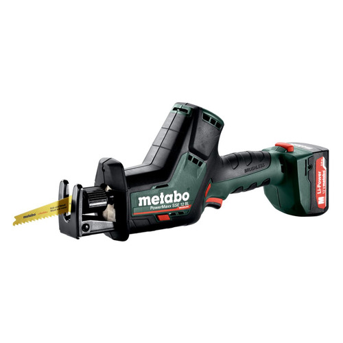 Сабельная пила METABO PowerMaxx SSE 12 BL [602322500] пила metabo powermaxx ase 10 8 2x4 0 liion metal 602264750