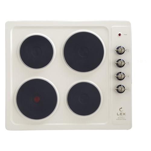 Варочная панель LEX EVE 640 C IV Light, электрическая, независимая, белый антик цена и фото