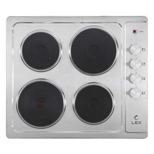 Варочная панель LEX EVS 640 IX, электрическая, независимая, нержавеющая сталь