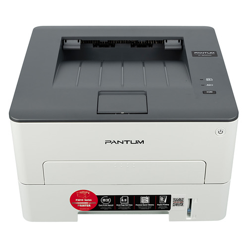 Принтер лазерный Pantum P3010D черно-белый, цвет: белый