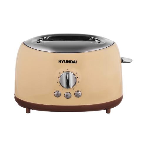 Тостер HYUNDAI HYT-8004, бежевый/коричневый