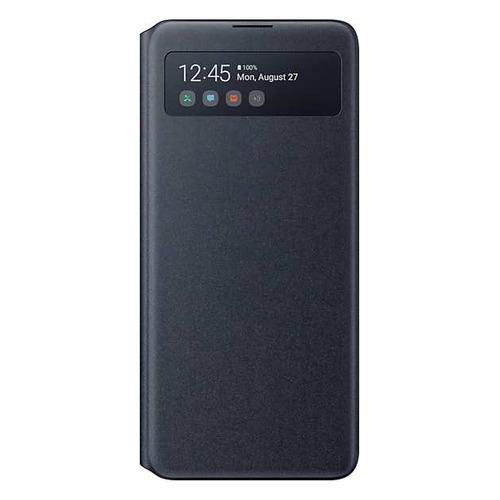Чехол (флип-кейс) SAMSUNG S View Wallet Cover, для Samsung Galaxy Note 10 Lite, черный [ef-en770pbegru]