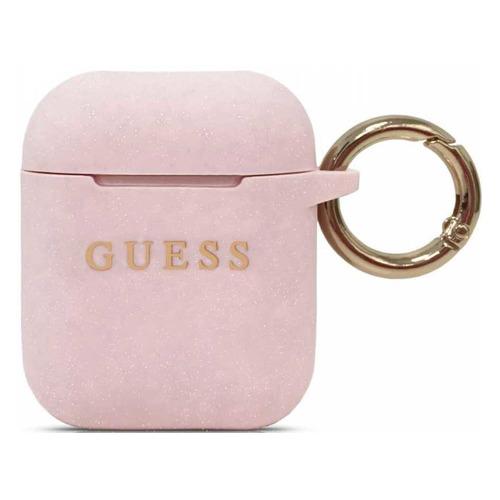 Кейс Guess, для AirPods, розовый [guaccsilgllp]
