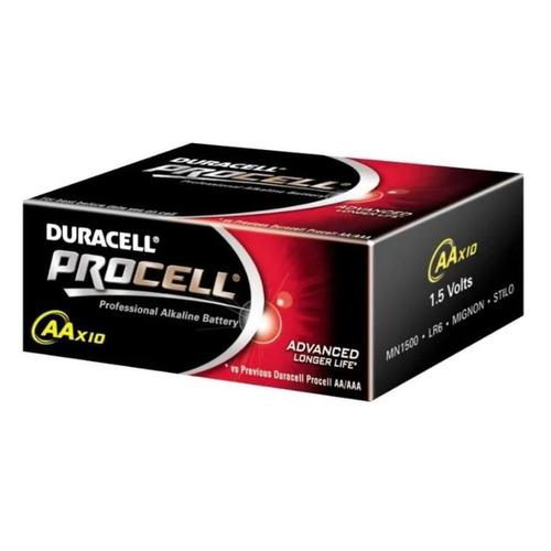 AA Батарейка DURACELL Procell LR6-10BL MN1500, 10 шт. батарейка aa duracell lr6 mn1500 4 штуки