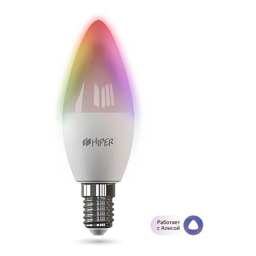 Умная лампа Hiper IoT C1 RGB Е14 6Вт 520lm Wi-Fi (HI-C1 RGB)