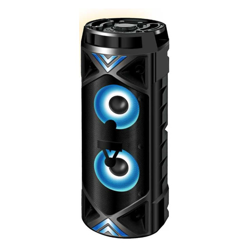 Портативная колонка GINZZU GM-209, 50Вт, черный портативная колонка ginzzu gm 875b black 6 вт 140 18 000 кгц bluetooth fm mini jack usb microsd батарея