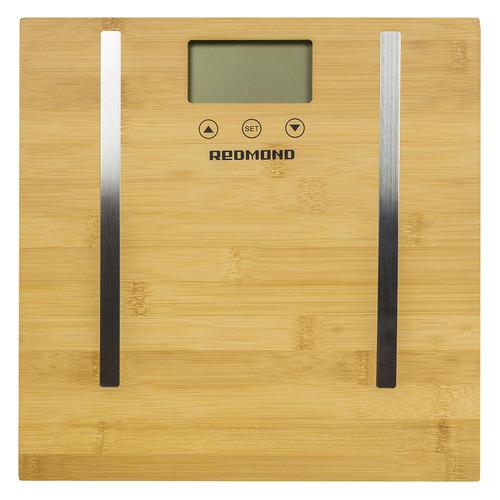Напольные весы REDMOND RS-746, до 150кг, цвет: бамбук