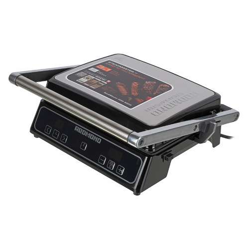 Электрогриль REDMOND SteakMaster RGM-M809, черный и серебристый