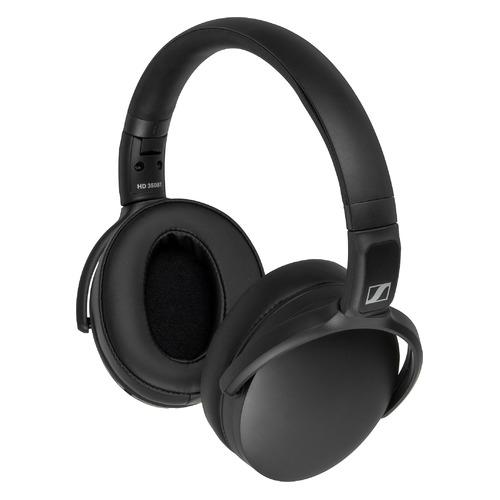 Наушники SENNHEISER HD 350BT, Bluetooth/USB Type-C, мониторные, черный [508384]