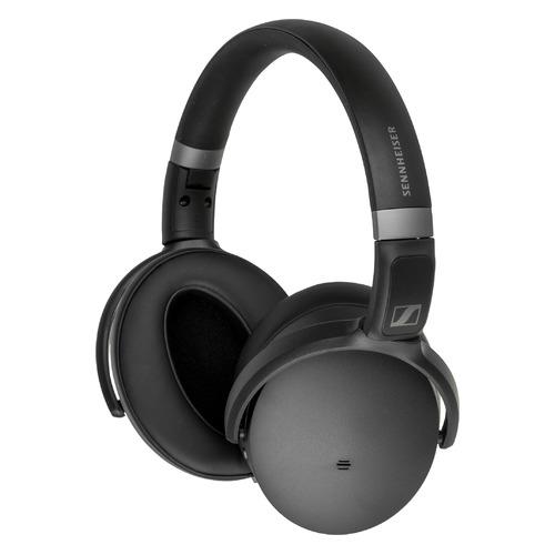 Наушники SENNHEISER HD 450BT, 3.5 мм/Bluetooth/USB Type-C, мониторные, черный [508386]