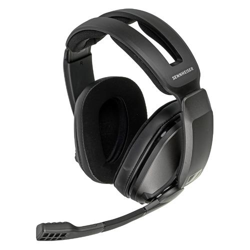 Гарнитура игровая SENNHEISER GSP 370, для компьютера и игровых консолей, мониторные, радио, черный [508364] цена 2017