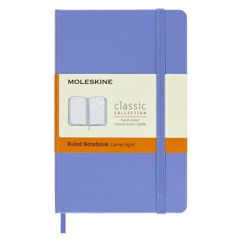 Блокнот MOLESKINE Classic, 192стр, в линейку, твердая обложка, голубая гортензия [mm710b42] блокнот moleskine le sakura pocket 90x140мм обложка текстиль 192стр линейка темно розовый