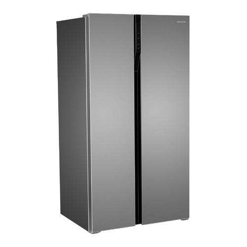 Холодильник HYUNDAI CS6503FV, двухкамерный, нержавеющая сталь встраиваемый холодильник side by side kuppersbusch kei 9750 0 2 t сталь