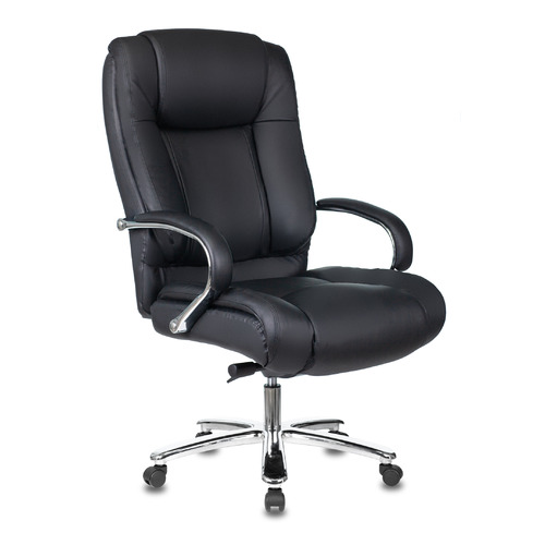 Кресло руководителя БЮРОКРАТ T-9925SL, на колесиках, кожа, черный [t-9925sl/black]