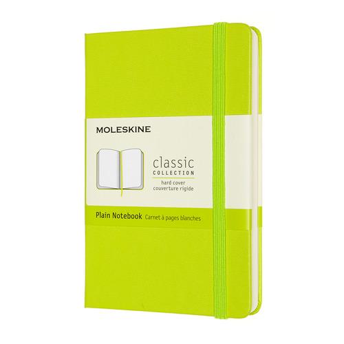 Блокнот MOLESKINE Classic, 192стр, без разлиновки, твердая обложка, лайм [qp012c2] блокнот moleskine le sakura pocket 90x140мм обложка текстиль 192стр линейка темно розовый