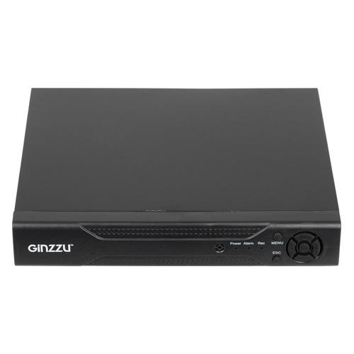 Комплект видеонаблюдения GINZZU HK-440N блок питания для камер видеонаблюдения ginzzu для питания 2 4 камер 12v 2 0a