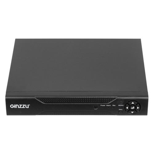 Комплект видеонаблюдения GINZZU HK-441N блок питания для камер видеонаблюдения ginzzu для питания 2 4 камер 12v 2 0a