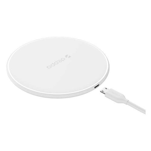 Беспроводное зарядное устройство DEPPA Fast charger, USB, microUSB, 1.1A, белый беспроводное мультизарядное устройство rivacase va4914 сзу qc 3 0 кабель usb microusb white