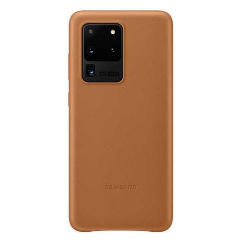 Чехол (клип-кейс) SAMSUNG Leather Cover, для Samsung Galaxy S20 Ultra, коричневый [ef-vg988laegru] чехол клип кейс samsung leather cover для samsung galaxy s20 ultra черный [ef vg988lbegru]