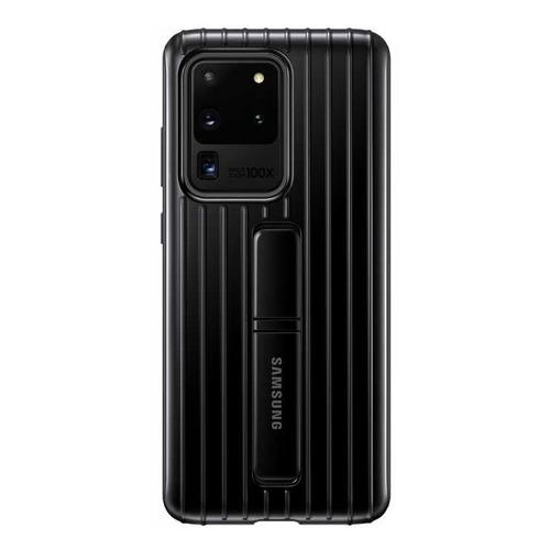 Чехол (клип-кейс) SAMSUNG Protective Standing Cover, для Samsung Galaxy S20 Ultra, черный [ef-rg988cbegru] чехол клип кейс samsung leather cover для samsung galaxy s20 ultra черный [ef vg988lbegru]