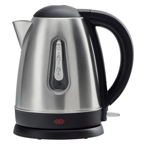Чайник электрический POLARIS PWK 1753CA, 2200Вт, нержавеющая сталь и черный