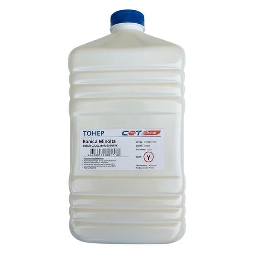 Тонер CET NF5Y, для Bizhub C220/280/360, желтый, 500грамм, бутылка bizhub 185