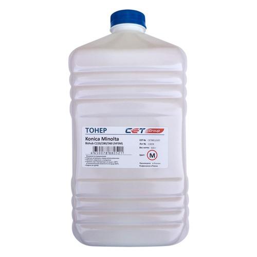 Тонер CET NF5M, для Bizhub C220/280/360, пурпурный, 500грамм, бутылка bizhub 185