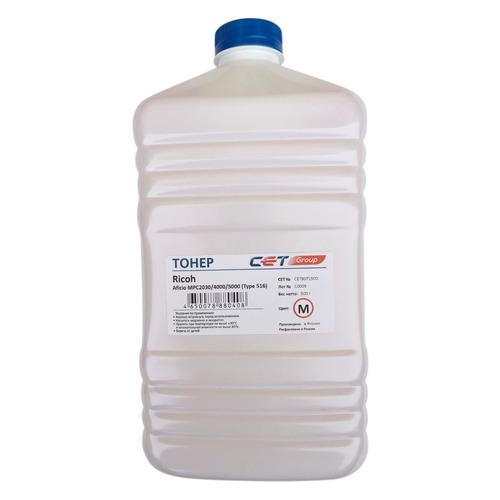 цена на Тонер CET Type 516, для Ricoh Aficio MPC2030/4000/5000, пурпурный, 500грамм, бутылка