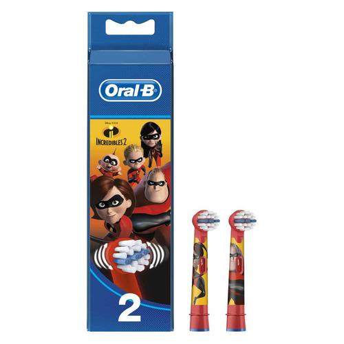 Сменные насадки ORAL-B EB10K Kids Incredibles2, 2 шт [80313786] насадки oral b 3d white 2 шт oral b