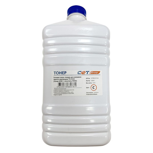 Тонер CET NF6C/NF6D, для Bizhub C224/284/364, голубой, 514грамм, бутылка, девелопер bizhub 185