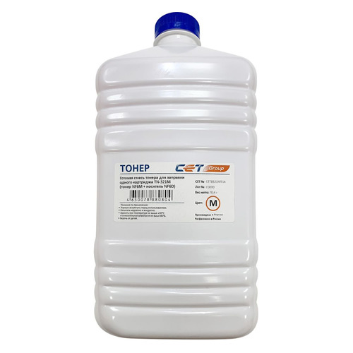 Тонер CET NF6M/NF6D, для Bizhub C224/284/364, пурпурный, 514грамм, бутылка, девелопер bizhub 185