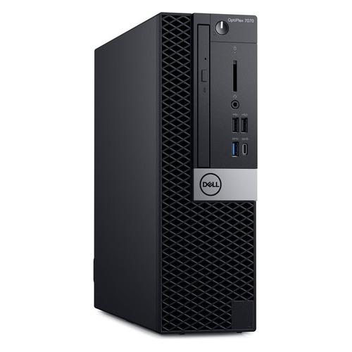 Компьютер DELL Optiplex 7070, Intel Core i7 9700, DDR4 8ГБ, 256ГБ(SSD), Intel UHD Graphics 630, DVD-RW, CR, Windows 10 Professional, черный и серебристый [7070-4906] компьютер dell optiplex 7070 intel core i5 9500 ddr4 8гб 256гб ssd intel uhd graphics 630 dvd rw cr windows 10 professional черный [7070 4890]