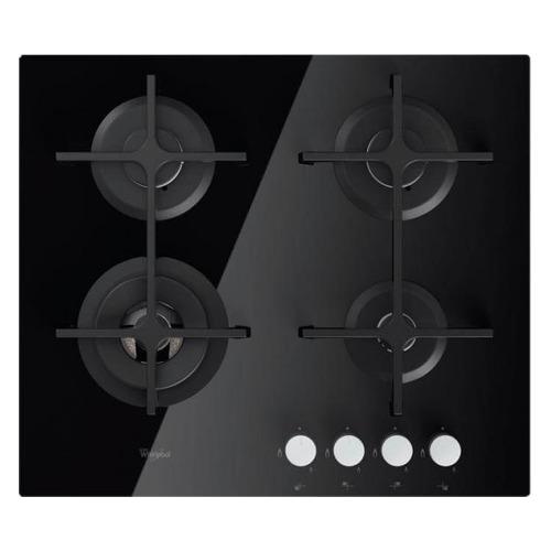 Варочная панель WHIRLPOOL GOA 6423/NB, зависимая, стекло черное варочная панель whirlpool goa 6423 wh независимая белый
