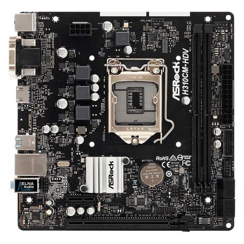 Материнская плата ASROCK H310CM-HDV, LGA 1151v2, Intel H310C, mATX, BULK цена 2017
