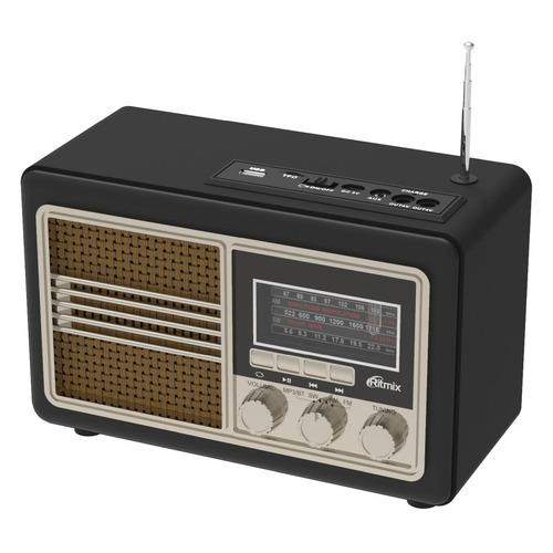 Радиоприемник RITMIX RPR-070 GOLD, черный цена и фото