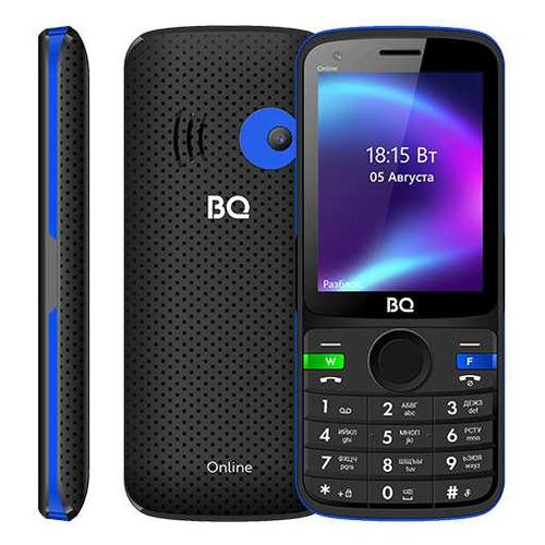 Мобильный телефон BQ Online 2800G, черный/синий мобильный телефон bq мюнхен