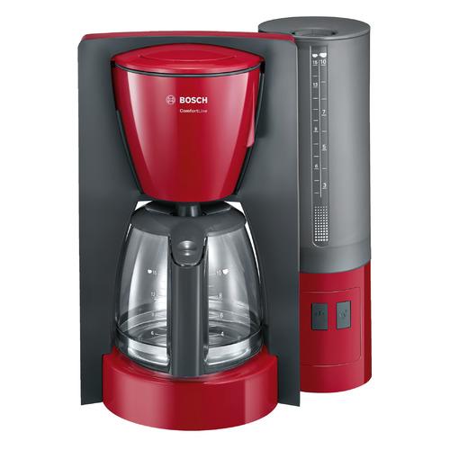 Кофеварка Bosch TKA6A044, капельная, серый / красный