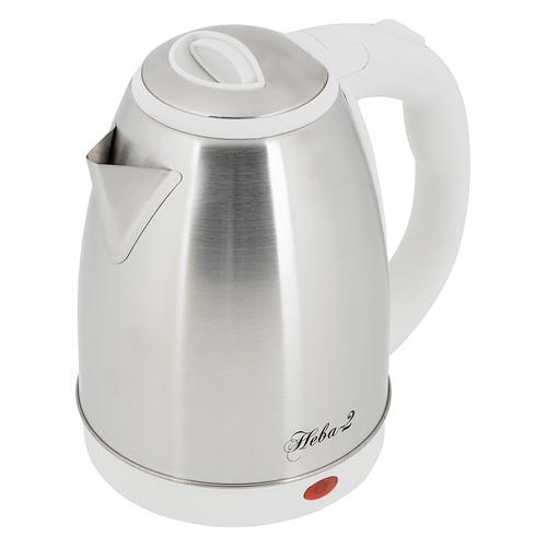 Чайник электрический ВЕЛИКИЕ РЕКИ Нева-2, 2000Вт, белый чайник электрический великие реки нева 2 1 8л 2000вт белый корпус нержавеющая сталь