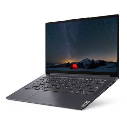 Фото - Ноутбук LENOVO Yoga Slim7 14IIL05, 14, IPS, Intel Core i7 1065G7 1.3ГГц, 16ГБ, 1000ГБ SSD, Intel Iris Plus graphics , Windows 10, 82A10083RU, серый ssd plus