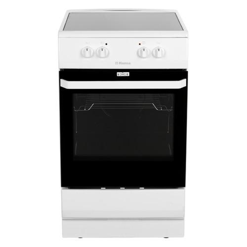 Электрическая плита HANSA FCCW530001, стеклокерамика, без крышки, белый/черный