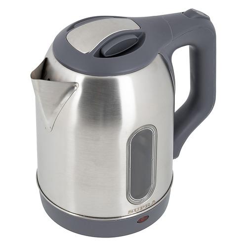 Чайник электрический SUPRA KES-1808SW, 1500Вт, нержавеющая сталь и серый