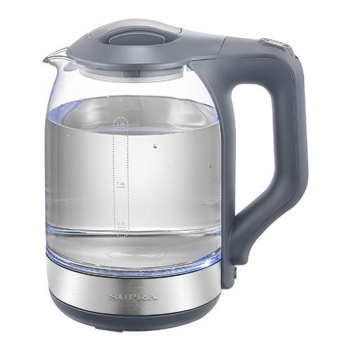 Чайник электрический SUPRA KES-1889G, 1500Вт, серый и серебристый