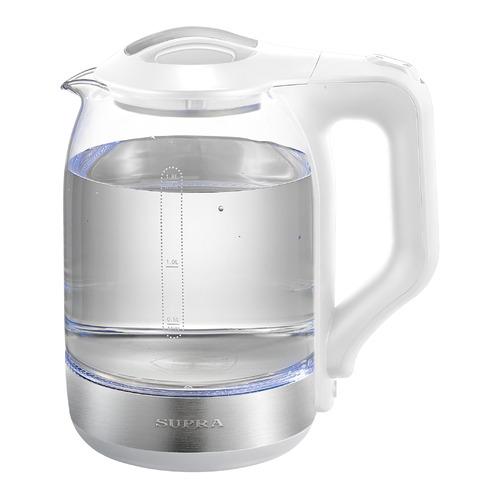 Чайник электрический SUPRA KES-1890G, 1500Вт, белый и серебристый цена 2017