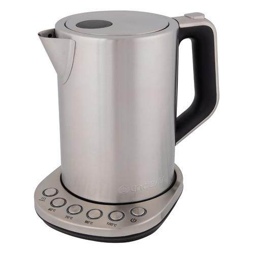 цена Чайник электрический ENDEVER Skyline KR-240S, 2200Вт, серебристый и черный онлайн в 2017 году