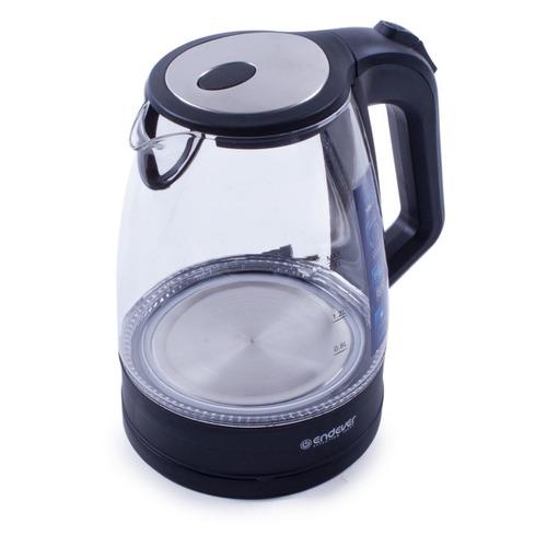 Фото - Чайник электрический ENDEVER Skyline KR-326G, 2200Вт, прозрачный и черный endever чайник aquarelle 301 302 303 3 л красный