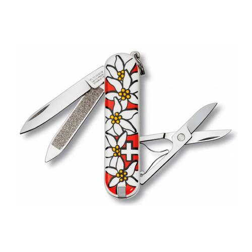 Складной нож VICTORINOX Classic Edelweiss, 7 функций, 58мм складной нож victorinox classic le2020 deep dive 7 функций 58мм голубой рисунок