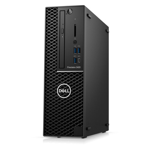 Фото - Рабочая станция DELL Precision 3431, Intel Core i7 9700, DDR4 16ГБ, 512ГБ(SSD), Intel UHD Graphics 630, DVD-RW, CR, Windows 10 Professional, черный [3431-8000] рабочая станция hp z8 g4 intel xeon gold 5220 ddr4 32гб 512гб ssd dvd rw windows 10 workstation plus professional черный [6tt64ea]