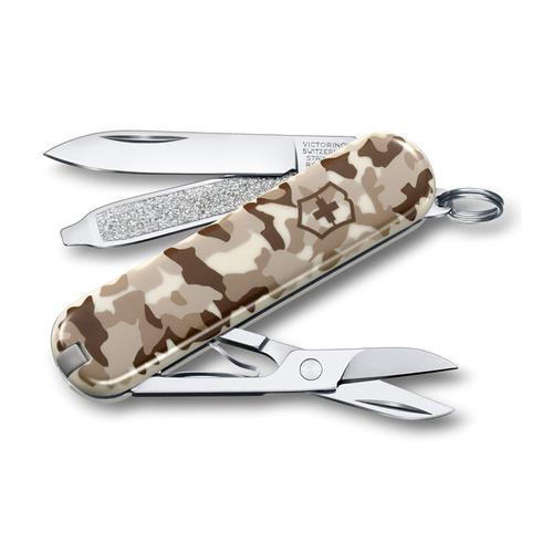 Складной нож VICTORINOX Classic, 7 функций, 58мм, камуфляж пустыни складной нож victorinox classic le2020 ski race 7 функций 58мм синий рисунок